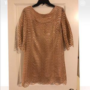 Ark & Co gold Sequin Dress